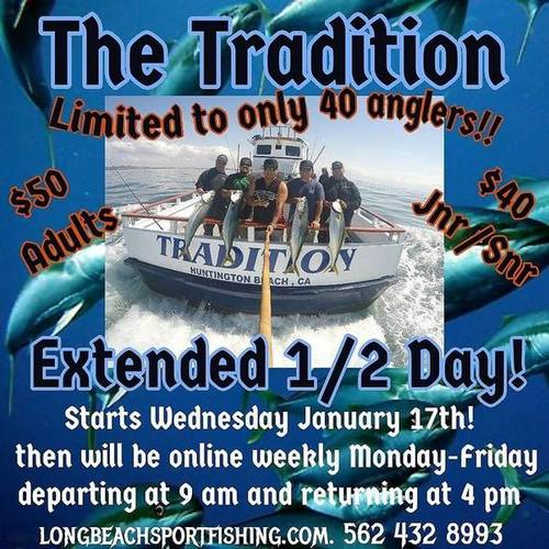 "TRADITION ""EXTENDED"" 1/2 DAY MONDAYS-FRIDAYS!  TWILIGHTS COMING SOON!"