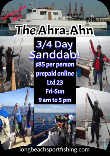 Starting January 2nd.  Sanddab fishing, NO LIMIT ON SANDDABS!!!